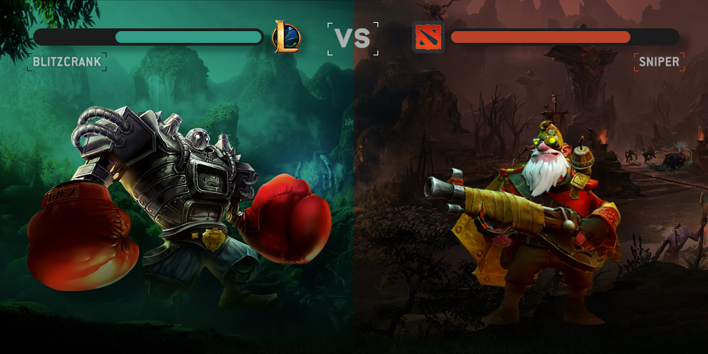 What is the difference between LoL and Dota 2?