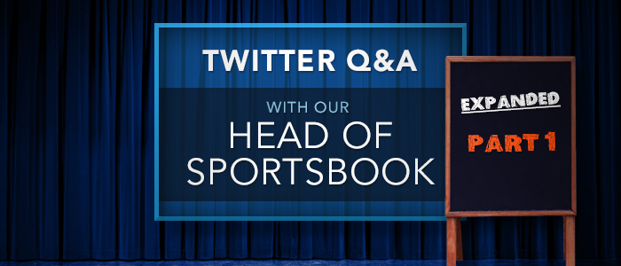Pinnacle's Head of Sportsbook answers your questions