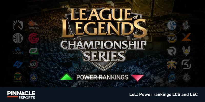 LoL 2019 Power Rankings   LEC, LCS Summer Split Rankings
