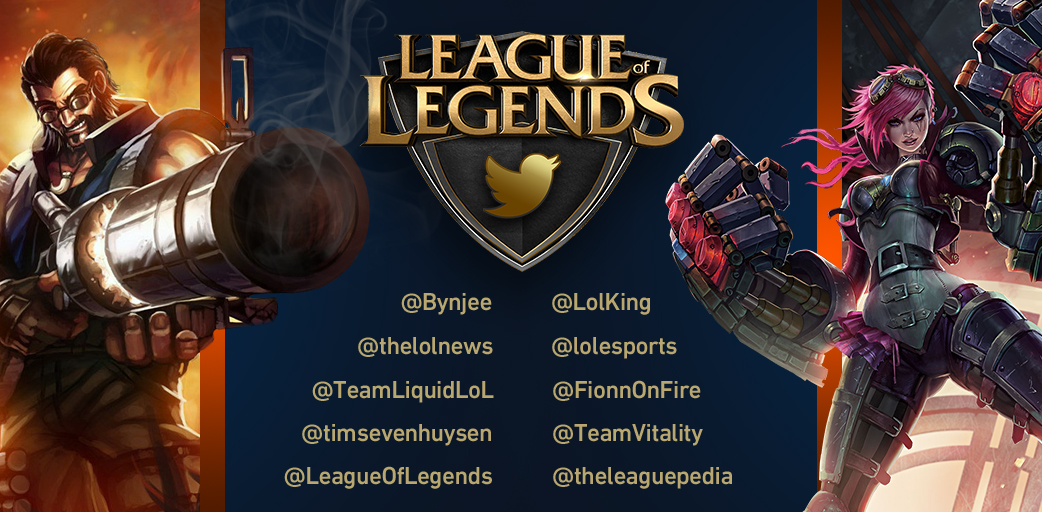 League of Legends Twitter accounts to follow
